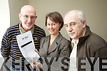 Pictured at the launch of Get Vocal at the Community Development partnership in Tralee on Thursday were Paul O'Raw South Kerry Partnership, Fiona English Get Vocal Kerry, and Larry Long, Silabh Luchara Network of active Retired.