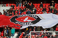 A large Charlton Athletic flag before Charlton Athletic vs Preston North End, Sky Bet EFL Championship Football at The Valley on 3rd November 2019
