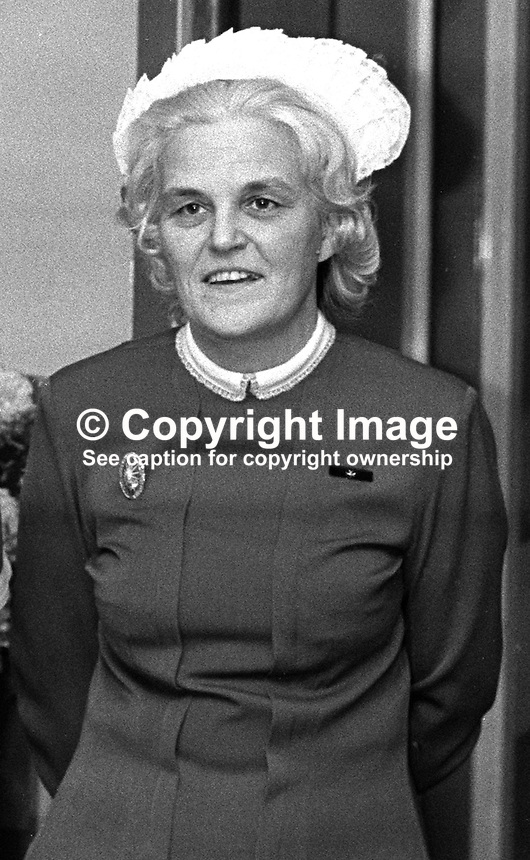 Miss Mary Kathleen Robb, matron, RVH, Royal Victoria Hospital, Belfast, N Ireland, UK, 197209000531b.<br />