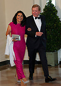 Lou Dobbs and Debi Dobbs arrive for the State Dinner hosted by United States President Donald J. Trump and First lady Melania Trump in honor of Prime Minister Scott Morrison of Australia and his wife, Jenny Morrison, at the White House in Washington, DC on Friday, September 20, 2019.<br /> Credit: Ron Sachs / Pool via CNP