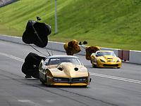 Jun 18, 2017; Bristol, TN, USA; NHRA pro mod driver Shane Molinari (left) alongside Troy Coughlin Sr during the Thunder Valley Nationals at Bristol Dragway. Mandatory Credit: Mark J. Rebilas-USA TODAY Sports