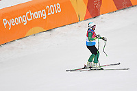 DH training / Melissa Perrine<br /> PyeongChang 2018 Paralympic Games<br /> Australian Paralympic Committee<br /> PyeongChang South Korea<br /> Wednesday March 7th 2018<br /> &copy; Sport the library / Jeff Crow