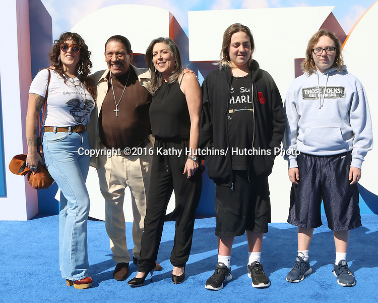 """LOS ANGELES - SEP 17:  Danny Trejo, Family at the """"Storks"""" Premiere at the Village Theater on September 17, 2016 in Westwood, CA"""