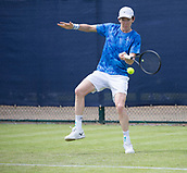 June 11th 2017, Nottingham, England; ATP Aegon Nottingham Open Tennis Tournament day 2;  Forehand from John-Patrick Smith of Australia during the match with Ryan James Storrie of Great Britain