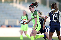 Cary, North Carolina  - Wednesday April 18, 2018: Morgan Andrews during a regular season National Women's Soccer League (NWSL) match between the North Carolina Courage and the Seattle Reign FC at Sahlen's Stadium at WakeMed Soccer Park.