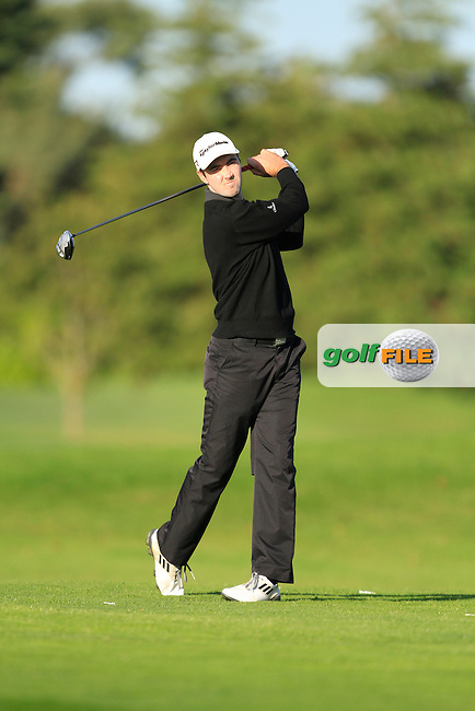 Niall Kearney (Royal Dublin G.C) on the 13th tee during Round 1 of The Cassidy Golf 103rd Irish PGA Championship in Roganstown Golf Club on Thursday 10th October 2013.<br /> Picture:  Thos Caffrey / www.golffile.ie