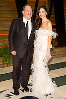 Harvey Weinstein and Georgina Chapman arriving for the 2014 Vanity Fair Oscars Party, Los Angeles. 02/03/2014 Picture by: James McCauley/Featureflash