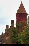 Gruuthuse Museum Tower 13th century, Bruges, Brugge, Belgium