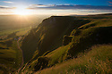01/08/16<br /> <br /> The first dawn of August breaks with a warming golden light as the sun rises over Winnats Pass near Castleton in the Derbyshire Peak District.<br /> <br /> <br /> <br /> All Rights Reserved, F Stop Press Ltd. +44 (0)1773 550665