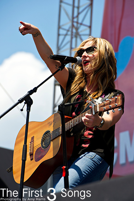 Sunny Sweeney performs during Day 3 of the 2013 CMA Music Festival in Nashville, Tennessee.