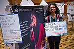 27 June, 2018, Kuala Lumpur, Malaysia : Meghla Akter of Bangladesh fills in the blanks in The Village on the third day at the Girls Not Brides Global Meeting 2018 at the Kuala Lumpur Convention Centre. Picture by Graham Crouch/Girls Not Brides
