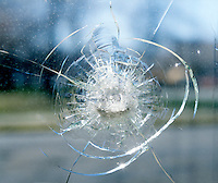 CRACKED SAFETY GLASS