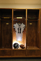 Locker images for Stevenson Football Media Guide.