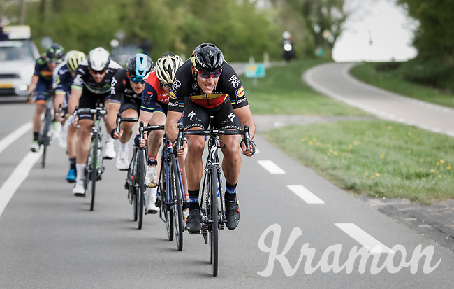 Philippe Gilbert (BEL/Quick Step floors) pulling hard 'in the drops'<br /> <br /> 52nd Amstel Gold Race (1.UWT)<br /> 1 Day Race: Maastricht &rsaquo; Berg en Terblijt (264km)