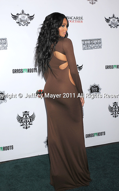 HOLLYWOOD, CA - FEBRUARY 10: Ciara arrives at the 7th annual Peapod benefit concert at the Music Box Theatre on February 10, 2011 in Hollywood, California.