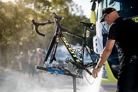 post-race bike clean at the Mitchelton-Scott team hotel after stage 4<br /> <br /> Stage 4: Reims to Nancy(215km)<br /> 106th Tour de France 2019 (2.UWT)<br /> <br /> ©kramon