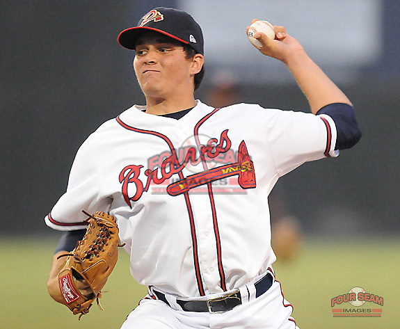 July 15, 2009: LHP Luis Avilan (51) of the Danville Braves, rookie Appalachian League affiliate of the Atlanta Braves, in a game on July 15, 2009, at Dan Daniel Memorial Park in Danville, Va. (Tom Priddy/Four Seam Images)