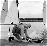 Laurie. The  oldest  member of  the Medley Sailing  club. 16th June 2002.