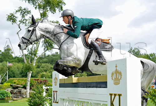 22.06.2013. The Bunn Leisure Derby Trophy. The British Jumping Derby from Hickstead, West Sussex, England. Adnan Al Baitony (KSA) riding Ciano