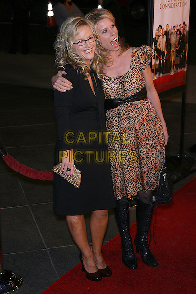 "RACHAEL HARRIS & CHERYL HINES.""For Your Consideration"" Los Angeles Premiere - Arrivals held at the Director's Guild, Hollywood, California , USA,13 November 2006..full length leopard print dress black bow bag.Ref: ADM/ZL.www.capitalpictures.com.sales@capitalpictures.com.©Zach Lipp/AdMedia/Capital Pictures."