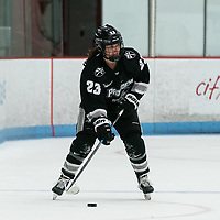 BOSTON, MA - JANUARY 11: Annelise Rice #23 of Providence College brings the puck forward during a game between Providence College and Boston University at Walter Brown Arena on January 11, 2020 in Boston, Massachusetts.