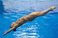 Nadezhda Bazhina RUS<br /> <br /> 3m Springboard Women preliminary<br /> <br /> Day 06 14/06/2015  <br /> <br /> 2015 Arena European Diving Championships<br /> <br /> Neptun Schwimmhalle<br /> <br /> Rostock Germany 09-14 June 2015 <br /> <br /> Photo Giorgio Perottino/Deepbluemedia/Insidefoto