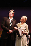 """One Life To Live's Taina Elg """"Olympia Buchanan"""", GL """"Ingrid Fischer"""", Loving """"Mrs. Mulryad"""" was honored as Ziegfeld Girl 2012  poses with Tom Galantich (OLTL """"Mark Casey"""", ATWT """"Dr. Swan"""" and AMC """"Dr. Chapell"""") as both performed in Pygmalion at """"Union Women at Work: Inspiration In Motion"""" on March 5, 2012 at Theatre at Saint Peter's Church - Home of The York Theatre, New York City, New York which was Sponsored by Actors' Equity Associations Eastern EEO Committee.  The event was an Equity event in celebration of Womens History Month.  (Photo by Sue Coflin/Max Photos)"""