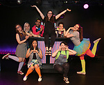 Top Row: Claire Autran, Azalea Lewis, Chris Costa, Daniella Caggiano, Dani Martineck, Leah Lane<br /> Bottom Row: Hui-Shan Yong, Maggie Metnick during The Dare Tactic production of 'A Roller Rink Temptation' at  WOW Cafe on May 25, 2018 in New York City.