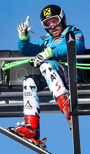 01.12.2016, Val d Isere, France.  FIS World Cup Alpine skiing , Val d Isere, Training. Marcel Hirscher (AUT) during the 2nd practice run