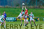 Jack Barry Na Gaeil and Sean Curran Mullinahone contest the kick out in the Munster Junior Championship final on Sunday