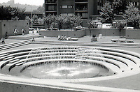 Pittsburgh:  Allegheny Center. Public gathering place with water fountain feature.