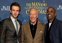 NEW YORK, NY - NOVEMBER 12: Actor Christopher Plummer,  Dan Stevens and Director Bharat Nalluri attends 'The Man Who Invented Christmas' New York Screening at Florence Gould Hall on November 12, 2017 in New York City. <br /> CAP/MPI/JP<br /> &copy;JP/MPI/Capital Pictures