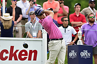 Bethesda, MD - July 2, 2017: Keven Streelman tees off on the first hole during final round of professional play at the Quicken Loans National Tournament at TPC Potomac at Avenel Farm in Bethesda, MD.  (Photo by Phillip Peters/Media Images International)