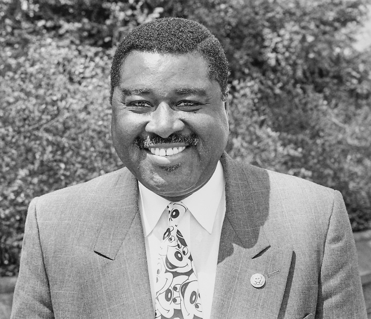 Portrait of Rep. Earl F. Hilliard, D-Ala., on April 18, 1994. (Photo by Chris Martin/CQ Roll Call via Getty Images)
