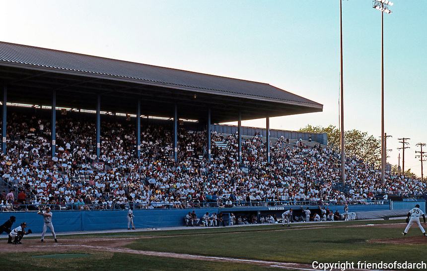 Ballparks: Toledo--Ned Skeldon Stadium, home of the Mud Hens. Seats 10,000. Photo 1997.
