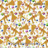 Randy, GIFT WRAPS, GESCHENKPAPIER, PAPEL DE REGALO, paintings+++++Gingerbread-Pattern-on-White,USRW88,#GP# Christmas napkins