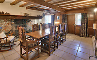 BNPS.co.uk (01202 558833)<br /> Pic Savills/BNPS<br /> <br /> Heard it through the grapvine? - Kent property comes with a 4500 bottle vinyard.<br /> <br /> A charming farmhouse has emerged for sale which is perfect for wine lovers - as it has its own vineyard.<br /> <br /> Ulley Farmhouse in Kennington, Kent, comes with the neighbouring vineyard which produces 3,500 bottles of sparkling rose wine and 1,000 bottles of still rose each year.<br /> <br /> The vines were planted on the 5.75 acre farm by Chris and Rachel Newman 10 years ago, who have sold the wine through farmers markets.<br /> <br /> They are selling the property with estate agents Savills who have given it a pricetag of £1.35million.<br /> <br /> The Grade II listed five bedroom farmhouse dates back to the 16th century, with some later alterations.