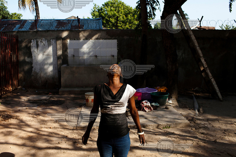 Hadija, a peer educator and former drug user, in Dar Es Salaam, where she works with MDM (Medecins du Monde).