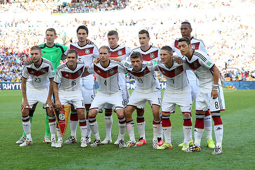 13.07.2014. Rio de Janeiro, Brazil. World Cup Final. Germany versus Argentina. Germany team grouphoto pre-match