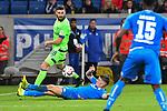 01.12.2018, wirsol Rhein-Neckar-Arena, Sinsheim, GER, 1 FBL, TSG 1899 Hoffenheim vs FC Schalke 04, <br /> <br /> DFL REGULATIONS PROHIBIT ANY USE OF PHOTOGRAPHS AS IMAGE SEQUENCES AND/OR QUASI-VIDEO.<br /> <br /> im Bild: Szene, die fuer den Videobeweis sorgte, Daniel Caligiuri (FC Schalke 04 #18) gegen Steven Zuber (TSG Hoffenheim #17), Handspiel?<br /> <br /> Foto © nordphoto / Fabisch