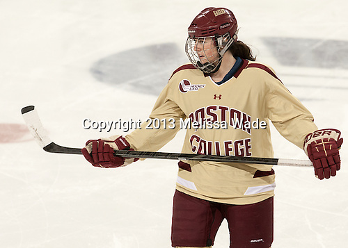 Ashley Motherwell (BC - 18) - The Boston College Eagles defeated the visiting Harvard University Crimson 3-1 in their NCAA quarterfinal matchup on Saturday, March 16, 2013, at Kelley Rink in Conte Forum in Chestnut Hill, Massachusetts.
