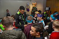 Pictured: Ben Cabango of Swansea City during the Swansea City Christmas part at the Liberty Stadium in Swansea, Wales, UK. Thursday 05 December 2019