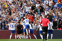Tranmere Rovers celebrate their late extra-time goal scored by Connor Jennings during Newport County vs Tranmere Rovers, Sky Bet EFL League 2 Play-Off Final Football at Wembley Stadium on 25th May 2019