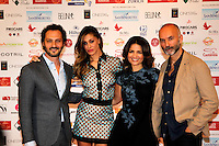 Fabio Troiano,Belen Rodiguez, Tosca d'Acquini and Massimo Capelli  attend at the professional days of cinema in Sorrento december 01 , 2014