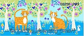 Kate, CUTE ANIMALS, LUSTIGE TIERE, ANIMALITOS DIVERTIDOS, paintings+++++Enchanted wood cats 2,GBKM269,#ac#, EVERYDAY ,cat,cats