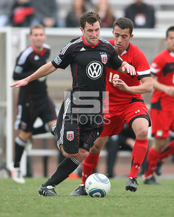 of D.C. United  during a scrimmage against the University of Maryland at Ludwig Field, University of Maryland, College Park, on April  10 2011. D.C. United won 1-0.