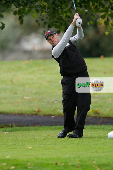 David Higgins (Waterville) on the 11th tee during Round 2 of the 104th Irish PGA Championship at Adare Manor Golf Club on Friday 3rd October 2014.<br /> Picture:  Thos Caffrey / www.golffile.ie