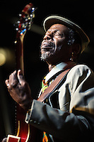 """Walter """"Wolfman"""" Washington playing at the 2011 Blues and BBQ Festival in New Orleans, LA."""