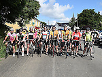 Cyclists line up for the start of the annual Dromin charity cycle in aid of Ardee Hospice.  Photo:Colin Bell/pressphotos.ie