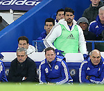 Chelsea's Diego Costa and Jose Mourinho look on from the bench<br /> <br /> Barclays Premier League - Chelsea v AFC Bournemouth - Stamford Bridge - England - 5th December 2015 - Picture David Klein/Sportimage